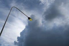 Поляк Linghting на небе Стоковые Изображения