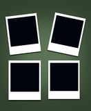 Поляроидная пустая рамка фото Стоковые Изображения