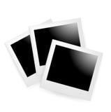 Поляроидные фото изолированные на белизне Иллюстрация штока