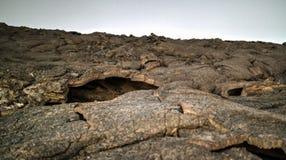 Поля лавы вокруг вулкана эля Erta, Danakil, Afar, Эфиопия Стоковые Фотографии RF