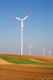 Поля ветротурбины и осени в восточной Австрии стоковые изображения rf