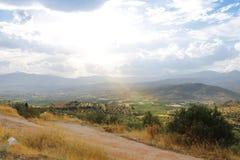 Поля Греции около Mycenae Стоковое Изображение RF
