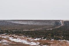 Поля зимы провинции Саратова Стоковые Изображения RF