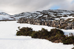 Поля и горы покрытые de снегом в зиме Стоковое Изображение RF