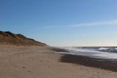 Поля и море Стоковое фото RF