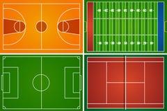 Поля и суды спорта Стоковые Изображения RF