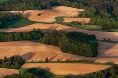 Поля и луга осени Стоковое Изображение