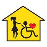 поддержка дома здоровья внимательности Стоковое Фото