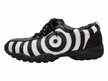правая зебра стороны ботинка Стоковое Изображение RF