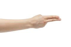Правая рука молодой женщины подсчитывая 2 Стоковая Фотография