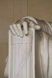 Правая рука Abe Линкольна Стоковое Изображение RF