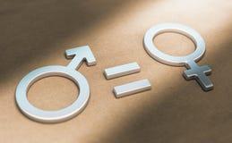 Права женщин, сексуальный или равенство полов Стоковое фото RF
