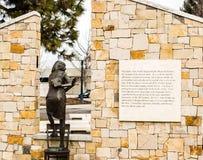 Права человека Айдахо Анны Франка мемориальные Стоковая Фотография