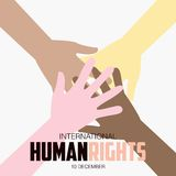 Права человека день, плакат, цитаты, шаблон Стоковые Фотографии RF