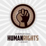 Права человека день, плакат, цитаты, шаблон Стоковое Фото