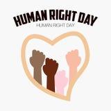 Права человека день, плакат, цитаты, шаблон Стоковые Изображения RF