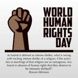 Права человека день, плакат, цитаты, шаблон Стоковая Фотография RF