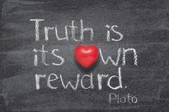 Правда имеет вознаграждение Платона стоковые изображения rf