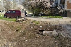 Правда о России Умирая города и бедные человеки стоковые изображения