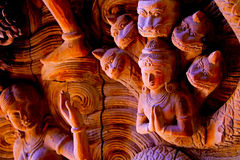 правда pattaya santuary стоковая фотография rf