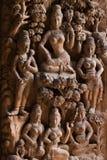 правда thaila скульптуры святилища pattaya деревянная стоковая фотография