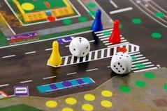 правила дороги игры стола кубиков обломоков Стоковые Изображения RF