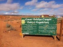 Правила и нормы на более низком каньоне антилопы Стоковые Фото