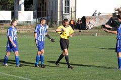 правила футбольного матча пролома стоковое фото