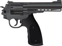 правильно пистолет иллюстрация вектора
