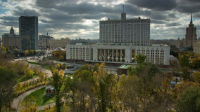 правительство федерирования размещает штаб русский moscow стоковое изображение