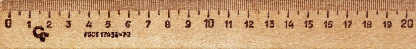 правитель деревянный Стоковое Изображение RF