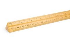 правитель деревянный Стоковая Фотография RF