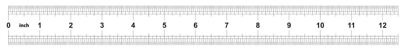 Правитель 12 дюйма имперский Цена разделения 1/32 дюймов Двойник правителя встал на сторону Точный измеряя инструмент Решетка тар бесплатная иллюстрация