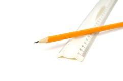правитель карандаша Стоковое Изображение