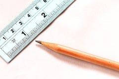 правитель карандаша Стоковое Изображение RF
