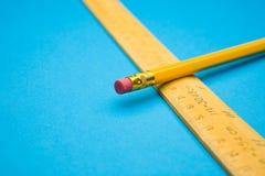правитель карандаша Стоковая Фотография RF