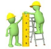 правитель марионеток строителей 3d иллюстрация вектора