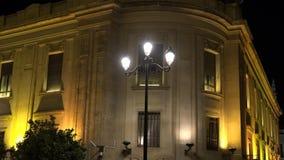 Правительство или федеральное здание на ноче видеоматериал