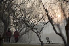 Правительство Пекина запустило воздушную тревогу красная Стоковые Изображения RF