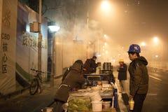 Правительство Пекина запустило воздушную тревогу красная Стоковое Фото