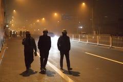 Правительство Пекина запустило воздушную тревогу красная Стоковое Изображение