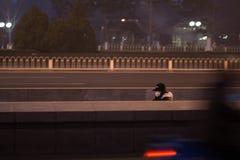 Правительство Пекина запустило воздушную тревогу красная Стоковое Изображение RF