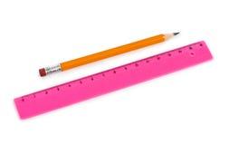 Правитель и карандаш Стоковые Изображения RF