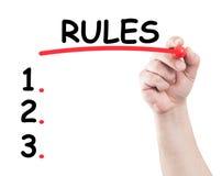 правила Стоковая Фотография