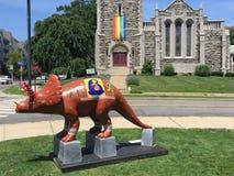 Правило динозавров! в Stamford городском Стоковые Фотографии RF