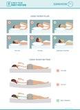 Правильные эргономика спать и выбор тюфяка иллюстрация штока