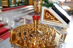 Правоверная лампа значка Масло церков Атрибут церков Стоковое Изображение RF