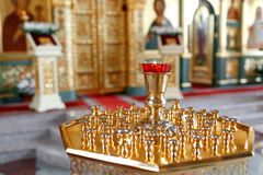 Правоверная лампа значка Масло церков Атрибут церков Стоковые Фото