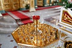 Правоверная лампа значка Масло церков Атрибут церков Стоковое фото RF