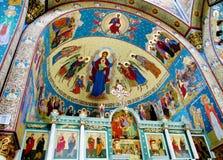 Правоверная религиозная христианская картина значка в церков Стоковые Изображения RF